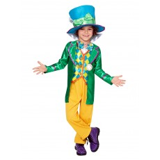 Mad Hatter Alice In Wonderland Boys Deluxe Child Costume