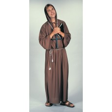 Brown Monk Medieval & Knights Robe for Adult