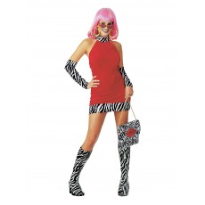 Red Hot Mama Adult Costume 1970s