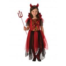 Colour Magic Devil Girl Child Costume
