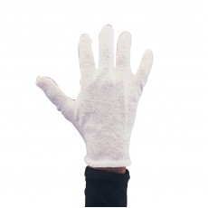 Mens White Cotton Adult Gloves - Accessory