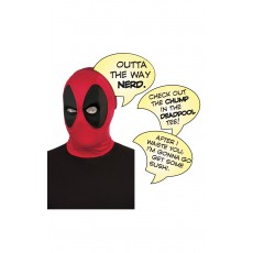 Deadpool Deluxe Mask With Speech Bubble - Accessory