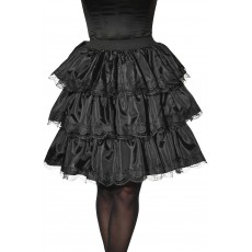 Black Ruffle Adult Skirt Witches
