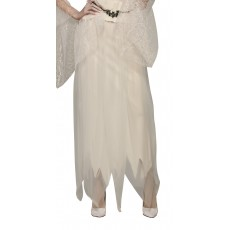 Ghostly Halloween White Adult Skirt