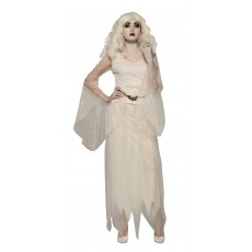 Witch Top With Belt White Adult