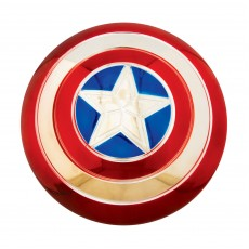 Captain America Electroplated Metallic 12in Shield - Accessory