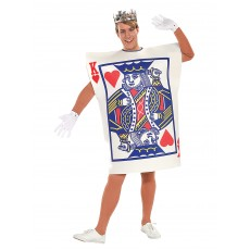 King Of Hearts Alice In Wonderland Playing Card Adult Costume