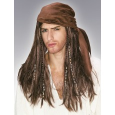 Caribbean Pirate Adult Wig - Accessory