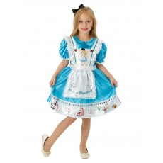 Alice In Wonderland Deluxe with Printed Border Child Costume