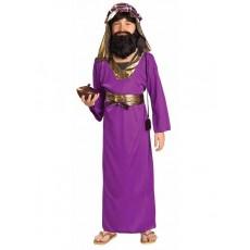 Wiseman Christmas Purple Child Costume