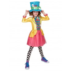Mad Hatter Alice In Wonderland Girls Large Polybag Deluxe Teen Costume
