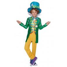 Mad Hatter Alice In Wonderland Boys Large Polybag Deluxe Tween Costume