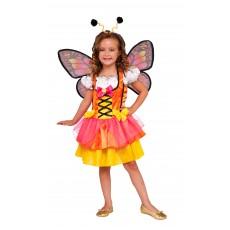Glittery Orange Butterfly Animals Child Costume