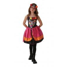Sugar Skull Day Of The Dead Halloween Child Costume