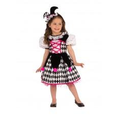 Jester Halloween Girl Child Costume