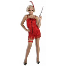 Flapper 1920s Deluxe Red Adult Costume