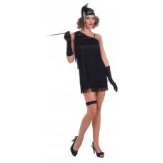 Flapper 1920s Costume Black Diamond Dazzler Adult