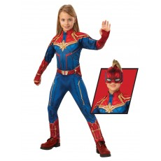 Captain Marvel Deluxe Hero Girl Child Suit