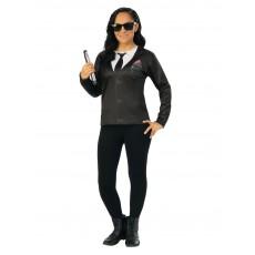 Agent M MIB Female Costume Top: Men In Black for Adult
