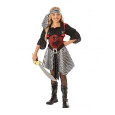 Crimson Pirate Girl Child Costume