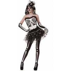 Skeleton Halloween Bone Adult Tutu