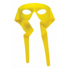 Hero Superheroes & Villains Mask With Rear Tie - Yellow for Adult - Accessory