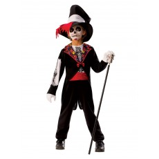 Day Of The Dead Boys Child Costume Halloween
