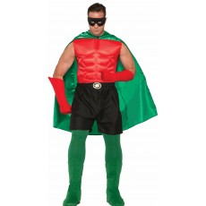Green Hero Superheroes & Villains Cape for Adult - Accessory