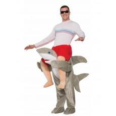 Shark Animals Piggy Back Adult Costume