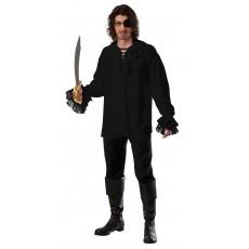 Ruffled Pirate Black Adult Shirt