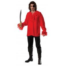 Ruffled Pirate Red Adult Shirt