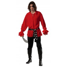 Cotton Pirate Red Adult Shirt