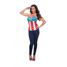 American Dream Sequined Adult Corset