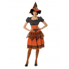 Polka Dot Witch Adult Costume