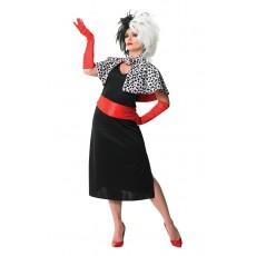 Cruella De Vil 101 Dalmatians Deluxe Adult Costume