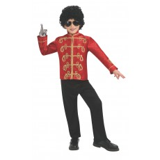 Michael Jackson Celebrities Deluxe Red Military Child Jacket