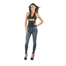 Batgirl Leather-look Adult Corset