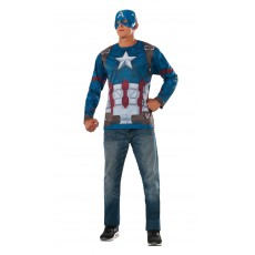 Captain America Costume Adult Top