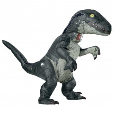 Velociraptor Jurassic World Blue Inflatable With Sound Adult