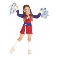 Retro Cheerleader American Child Costume